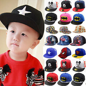Image is loading Outdoor-Kids-Boy-Girls-Baseball-Cap-Adjustable-Snapback- 4bca67e1e23e