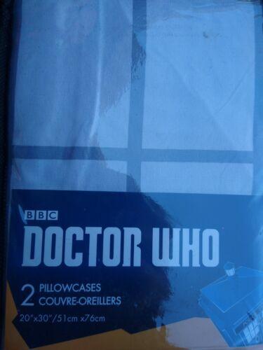 Doctor Who Police Public Call Box Taie D/'Oreiller Taie d/'Oreiller Set de 2 Nouveau en Emballage