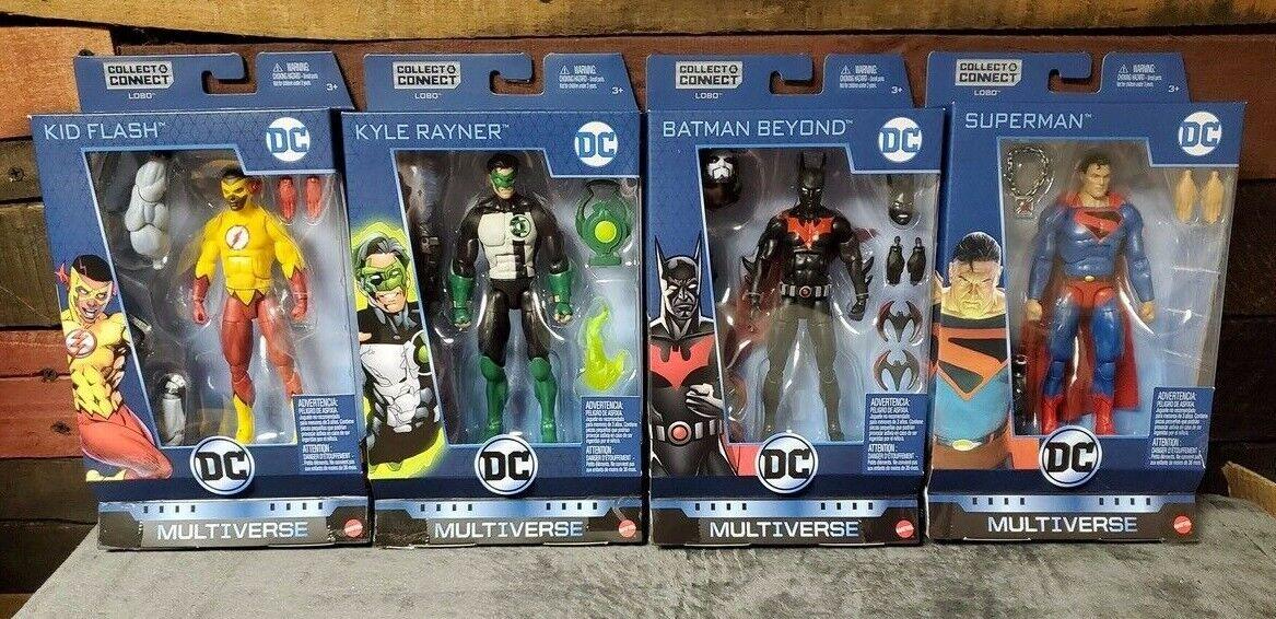 DC Comics Multiverse LOBO Build A Figure BAF Action Figure Set of 4 Superman