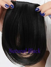 Clip in Bangs Fake Hair Extension False Hair Piece Clip on Front Neat Bang lk