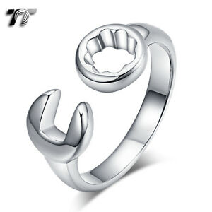 rz165s New High Quality Tt 316l Silver Stainless Steel Wrench/spanner Ring
