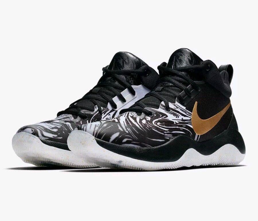 Mens Nike Zoom ReV BHM QS AA1009-001 Black/Metallic Gold Brand New Size 7