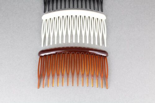 """3 Brown Black Cream hair combs plastic 3.25/"""" long hair accessory side clip comb"""
