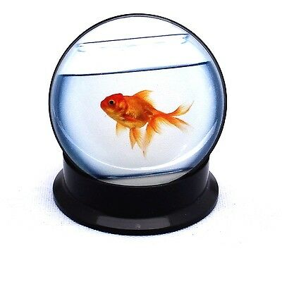 PAIR- GOLDFISH IN A BOWL:) Screw Back Ear Gauges- Acrylic Ear Gauges-Ear Plugs
