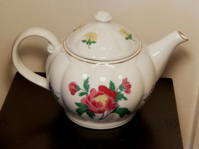Laura Ashley White w/Pink & Yellow Floral Porcelain