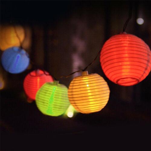 10//20 LED Energia Solare Giardino Stringa Luci Appeso Lanterna Lucine Festa all/'Aperto