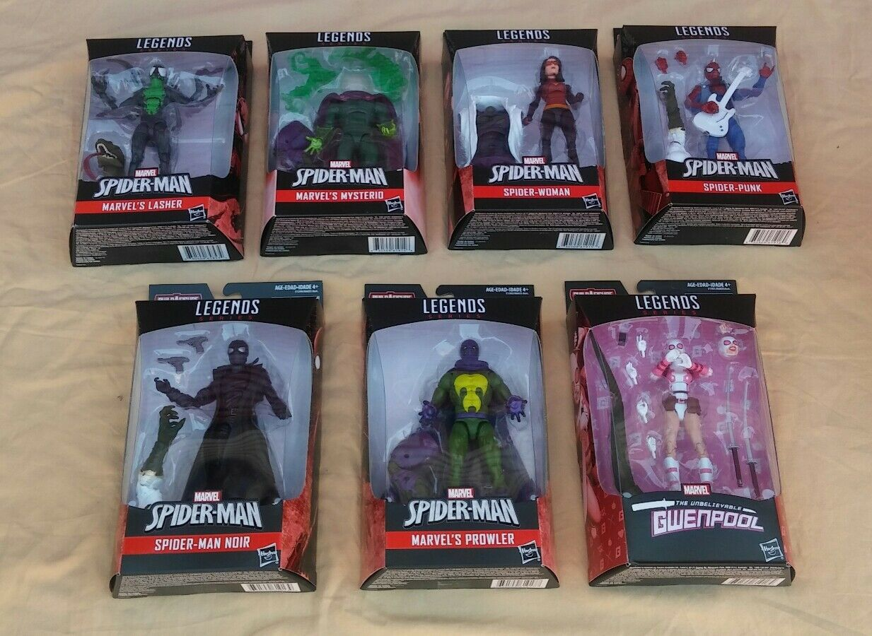 Marvel Legends SPIDERMAN BAF LIZARD SET 7 6 Figure Figure Figure a67887
