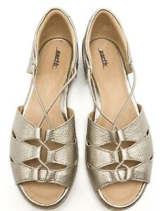 Earth Leather Womens 10d Walking Aloha On Gold Washed Bungee Slip KJ1FcTl3