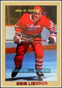 OSHAWA-GENERALS-1990-ERIC-LINDROS-NHL-FLYERS-RARE-ODDBALL-GOLD-ROOKIE-NNO