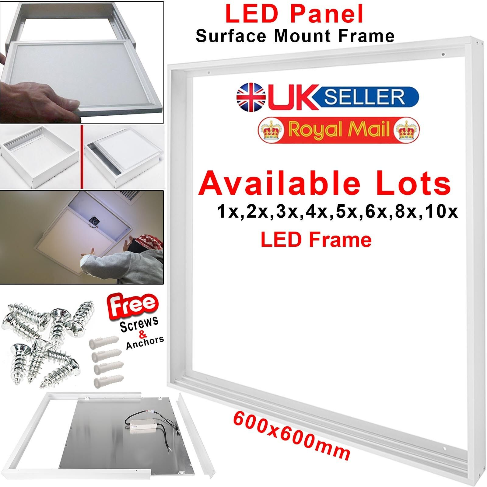 1-10 Pcs Surface Mount Frame 600x600mm Kit For Flat LED Panel Ceiling Lamp Light