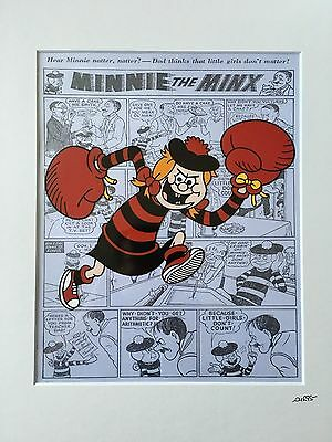 Hand Drawn /& Hand Painted Cel The Beano Minnie The Minx