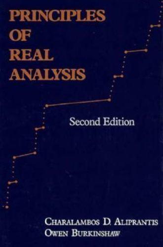 Principles of Real Analysis (1990, Hardcover)