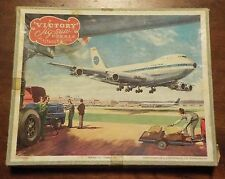 PAN AM BOEING 747 JUMBO JET Plywood Jigsaw Puzzle by Hayter & Co Made in England
