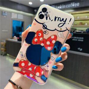 Coque iPhone 11/pro/pro max Disney Mickey Minnie Brillant Paillettes Souple