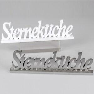 Formano Deko Schriftzug Sternekuche Stern Kuche Ornament Weiss Weiss