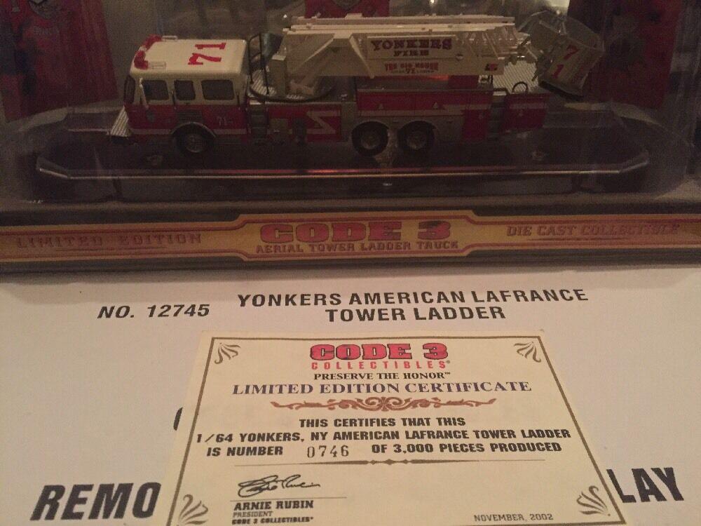 Código 3 Yonkers American La France Torre Escalera