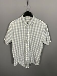 LACOSTE-SHORT-SLEEVE-Shirt-XL-Check-Check-Great-Condition-Men-s