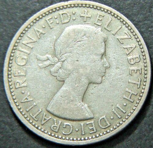 1957 2//- Silver TWO Shilling Florin TWO BOB very Nice Q Elizabeth II