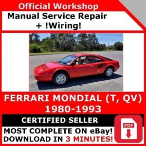 image is loading factory-workshop-service-repair-manual-ferrari-mondial-t-