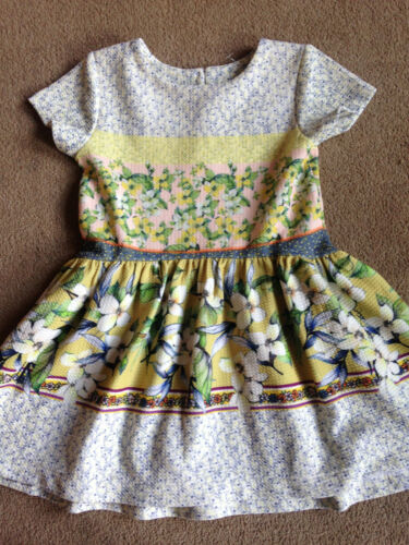 BNWT NEXT Green Yellow Pink Floral Ditsy Short Sleeved Knee Length Dress