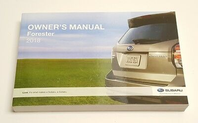 2018 Subaru Forester Owners Manual 2 5i Premium Limited V4 2 5l