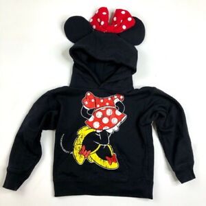 Disney Girls Minnie Polka-Dot Bow Hoodie