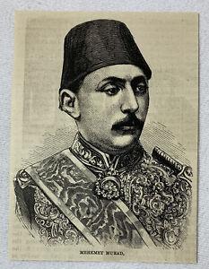 1885-magazine-engraving-MEHEMET-MURAD-Turkey