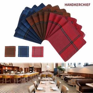 12x-Men-Mens-HANDKERCHIEFS-100-Pure-Cotton-Pocket-Square-Hanky-Handkerchief-Bulk