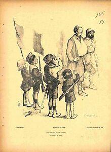 Journee-de-Paris-Parade-Soldats-Spahis-Poilus-Dessin-Francisque-Poulbot-1915-WWI