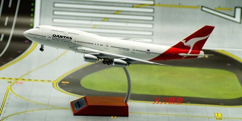 Qantas Boeing 747 VH -EBT -modellllerllegeringar 1 -200 (L)