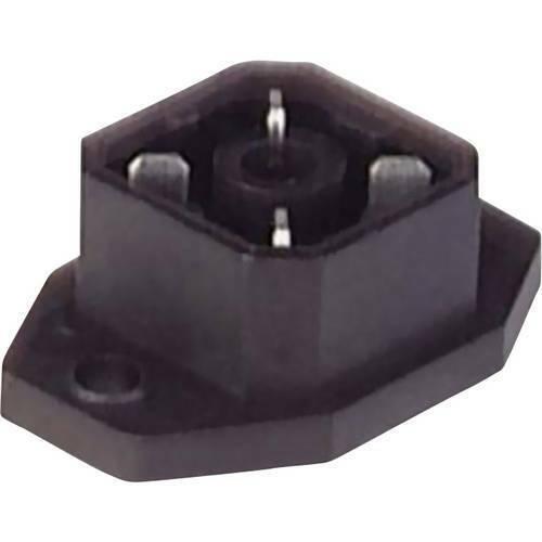Spina da pannello con flangia intorno ai contatti saldati grigio g 4 a 5 m poli4