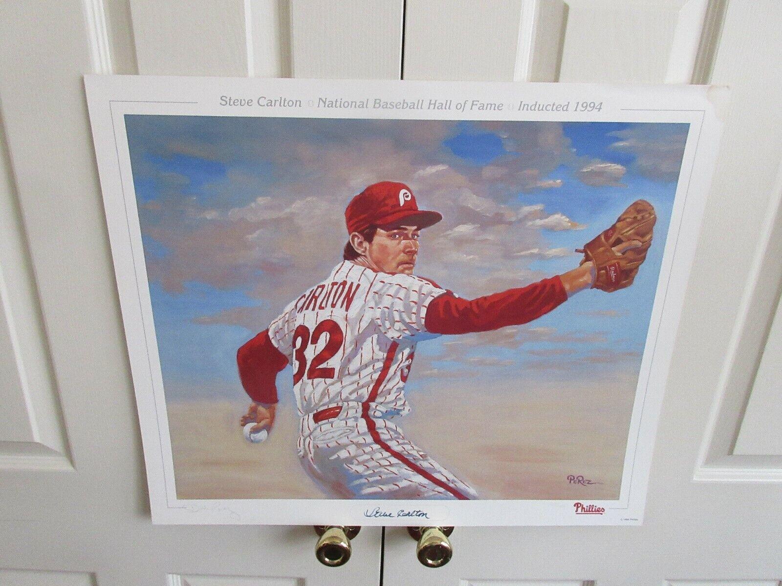 """Steve Carlton . Poster , 26""""X22"""" ,National Baseball Hal"""