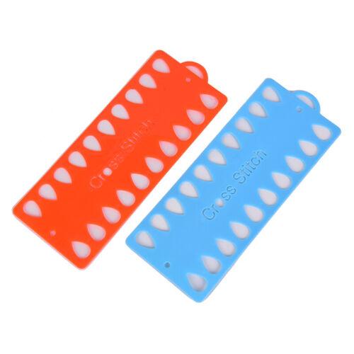 2pcs Plastic Cross Stitch Row Line Board Embroidery Floss Thread Yarn Organizer