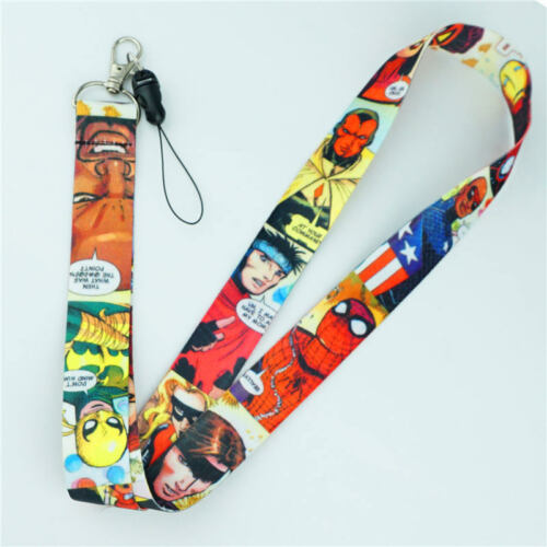 Infinity War Lanyard Neck Strap Cell Phone Rope KeyChain Cosplay Gifts Avengers