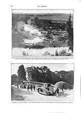 WWI BATAILLE DE L'ARGONNE SAMMIES US ARMY Tanks Sammies Poilus Aire ILLUSTRATION