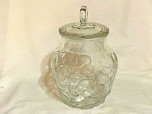 Glass-Candy-or-Cookie-Jar-w-Lid