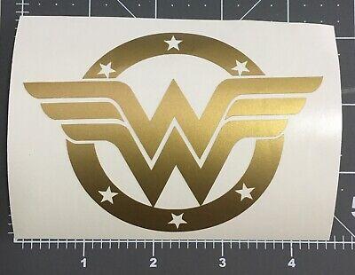 Gold Wonder Woman Car Sticker