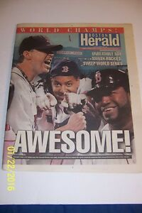 2007-Boston-Herald-RED-SOX-Win-The-WORLD-SERIES-Sweep-Rockies-AWESOME-Collector