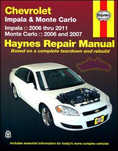 shop manual impala service repair monte carlo haynes book guide rh ebay com 2000 chevy monte carlo ss repair manual 2000 chevy monte carlo ss repair manual