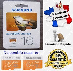 Carte-Memoire-48-MB-s-SAMSUNG-EVO-Micro-SD-SDHC-16-Go-Class-10-aussi-32-64-Gb