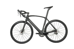 61cm-Road-Bike-Disc-brake-carbon-frame-aero-alloy-wheels-700C-race-full-bicycle