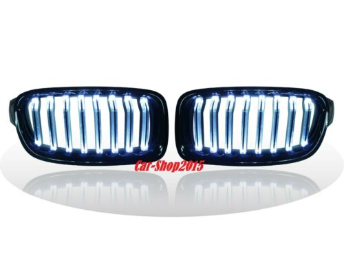 Front Kidney Matte Black Grille With WHITE LED For BMW F30F31 3Series '12'15