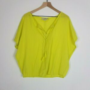 Ann-Taylor-LOFT-Womens-size-Small-Fluro-Yellow-Green-Lightweight-Beach-Cover-up