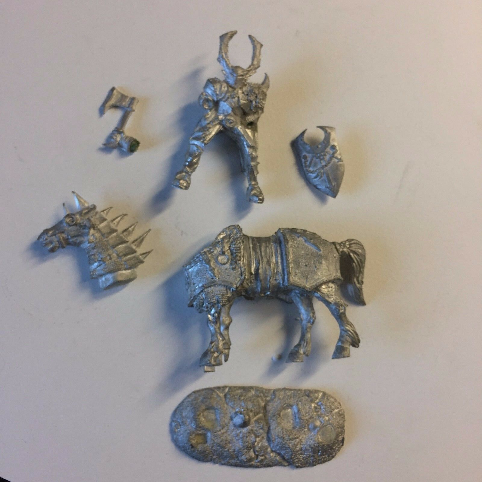 54MM CHAOS WARRIOR MOUNTED XMAS GIFT  SPECIAL ED.CITADEL MINIATURES