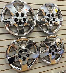 NEW-2008-CHEVROLET-MALIBU-16-034-Bolt-on-Hubcap-Wheelcover-SET-of-4-CHROME
