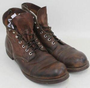 Uk12 8111 Shoes Eu47 Red Iron uomo in Wing Stivaletti marrone pelle Ranger EZAAqwvx4