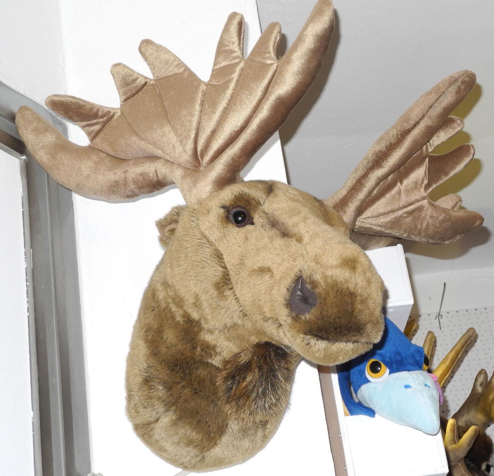 Uni-Toys Neuware riesengroßer Elch Kopf Trophäe Plüschtrophäe 65cm hoch