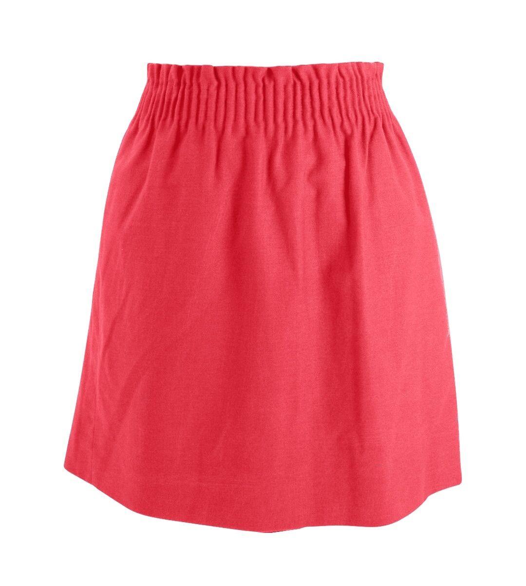 J Crew Factory - Womens 0 (XS) - Coral Linen Cotton Sidewalk Pull-on Mini Skirt
