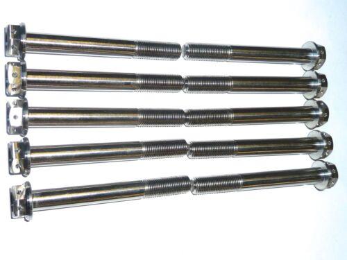 M12 x 1.25 x 55 100 Titanio con flangia esagonali CROCE TRAPANO Bullone PRO RACE SPEC GR5