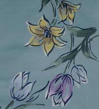Japanese vintage kimono Cotton fabric Lilies and Tulips